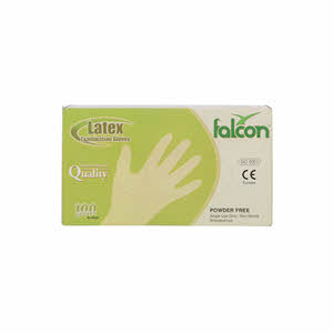 Falcon Latex Gloves Powder Free Medium