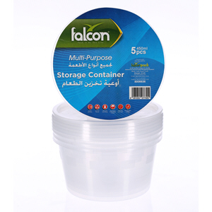 Falcon Retail Microwave Container Round 450Cc with Lid 5'S