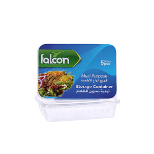 Falcon Retail Microwave Container Rectangle 500Cc with Lid 5'S