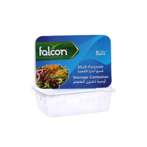 Falcon Retail Microwave Container Rectangle 750Cc with Lid 5'S