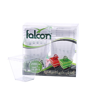 Falcon Mini Dessert Square Cup Crystal 200ml
