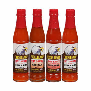 Excellence Hot Sauce Assorted 3Oz x 4PCS