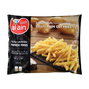 Al Ain Frozen French Fries Thin Cut 750gm