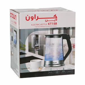 Crownline Cordless Glass Kettle Kt-158