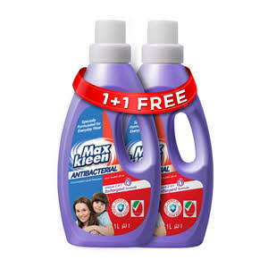 Max Kleen Anti Bacterial Liquid Detergent 1Ltr+1 Free