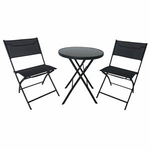 Campmate Glass Top Table & Two Chair