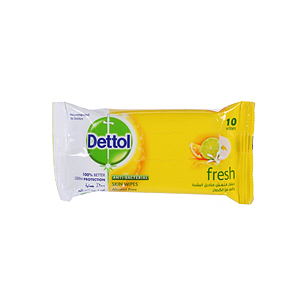 Dettol Anti-Bacterial Fresh Wipes 10Wipes
