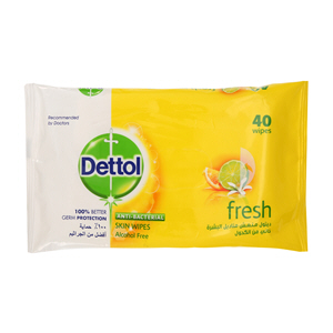 Dettol Anti-Bacterial Fresh Wipes 40Wipes