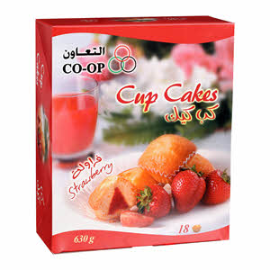 Co-Op Cup Cake Strawberry 18 X 35Gm