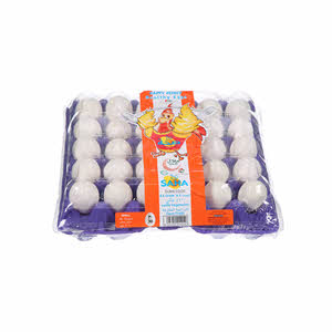 Saha Dubai Eggs White Small 30'S
