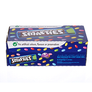 Nestlé Smarties Hexatube Chocolate 40gm × 24'S