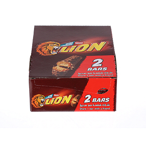 Nestlé Lion Chocolate Bar 2 Packs 60gm × 18'S