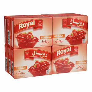 Royal Strawberry Jelly Powder 85gm × 12'S