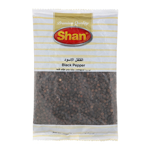 Shan Black Pepper Whole Spicy Poly 200gm