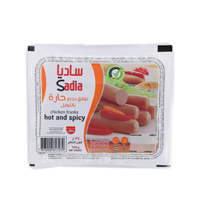 Sadia Chicken Franks Hotspicy 340gm