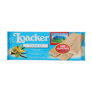 Loacker Crispy Wafers Filled with Vanilla Cream 175gm