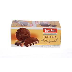 Loacker Tortina Chocolate Biscuits Sandwich 21gm × 24'S