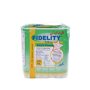 Fidelity Diapers Pull On Large 10 Diaper