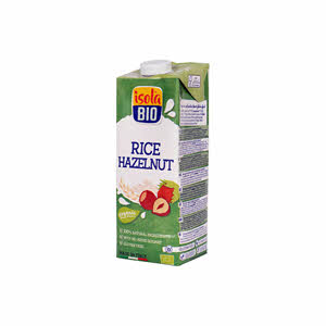 Isola Bio Organic Rice Hazelnut Milk 1Ltr