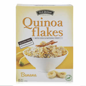 O.A.Quinoa Flakes with Chia & Banana 340gm