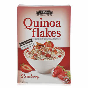 O.A.Quinoa Flakes with Chia & Strawberry 340gm