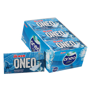 Ulker Oneo Slim Peppermint Chewing Gum 14'S