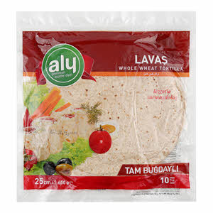 Aly Whole Wheat Tortilla 25Cm 10Pcs