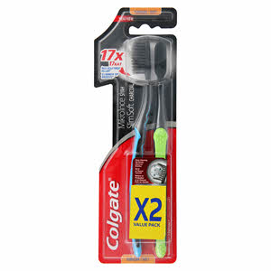 ColgateColgate Slim Extra Soft Charcoal Toothbrush 2PCS