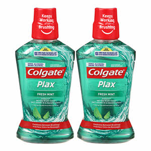 Colgate Plax Mouthwash Freshmint Green 500ml x 2PCS