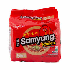 Samyang Noodles Spicy 120gm x 5PCS