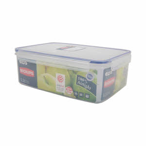 Komax Biokips Food Container Clear/Blue 5.2Ltr