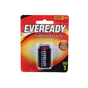 Eveready Battery Super Heavy Duty Black 1222