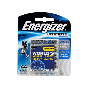 Energizer AA Ultimate Lithium Battery 4'S