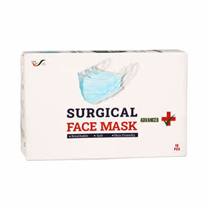 Soft Hygienic Surgical Face Mask 10s