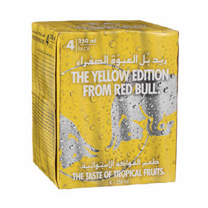 Red Bull Yellow Edition Energy Drink 4 x 250Ml