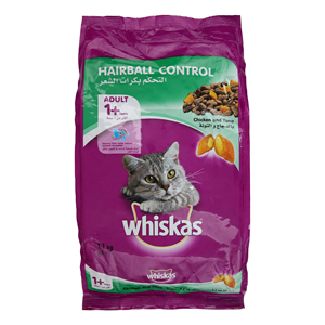 Whiskas Whis Hair Ball Control Chicken & Tuna 1.1Kg