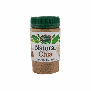 Mother Earth Peanut Butter Chia Seed Natural 380gm
