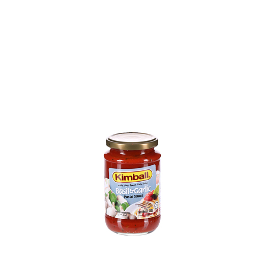 Kimball Basil Garlic Spaghetti Sauce 350gm Pasta Pizza Sauces Condiments Sauces Food Cupboard Categories Sharjah Co Operative Society