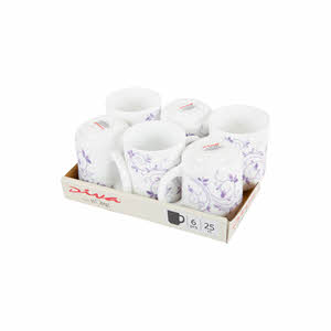 La Opala Dazzle Purple Coffee Mug 25Cl 6PCS