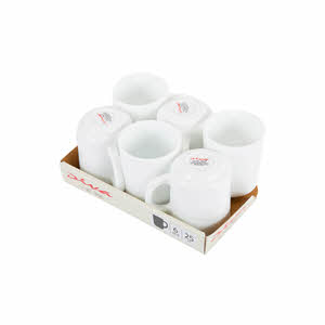 La Opala Plain White Coffe Mug 25Cl
