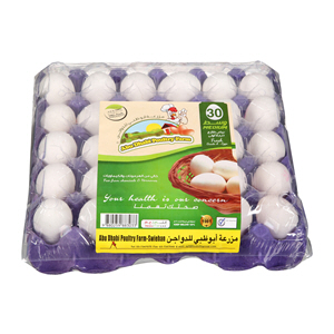Abu Dhabi Fresh White Eggs Medium 30'S
